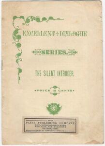 Silent Intruder - Excellent Dialogue Series - 1900s Paine Publishing Juvenile