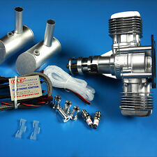 DLE40CC Twin Gasoline Engine W/Electronic Igniton &Muffler For RC Plane Updated
