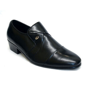 MENS LEATHER SHOES NEW SLIP ON ITALIAN SMART FORMAL WEDDING OFFICE SHOES SIZE