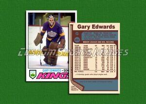 Gary Edwards - Los Angeles Kings - Custom Hockey Card  - 1976-77