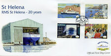 St Helena 2010 FDC RMS Royal Mail Ship St Helena 20 Years 4v Cover Ships Stamps