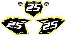 2007-2009 SUZUKI RMZ250 Custom Pre-Printed Black Backgrounds Yellow Shock Series