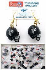 Atlanta Falcon Football Helmet Earrings Super Bowl Black Rus 24 Pairs Available