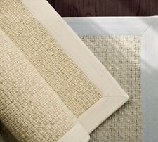 pottery barn Chenille Basketweave Rug 5' x 8' natural Jute Authentic