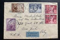 1941 Kočevje Yugoslavia Airmail Cover To New York USA Not Censored