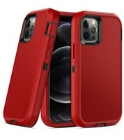 For iPhone 12 Pro Max Heavy Duty Armor Cover Rugged Shockproof Case +Belt Clip