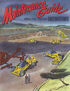 Caterpillar Maintenance Guide DW10 DW20 DW21