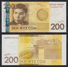 Kirguistán - Kyrgyzstan  200 Som  2010  Pick 27a  SC = UNC