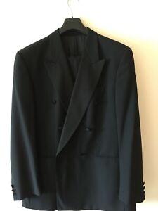 """Mens Black Baumler Ricardo,Wool Blend Tuxedo/Dinner Suit.Chest 44"""" W38"""" Regular"""