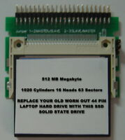 "512MB SSD Replace Old 2.5"" IDE Laptop Drives with this SSD 44PIN Card & Adapter"