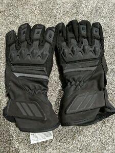 Icon Women CITADEL Waterproof Gloves Black Textile Gauntlet M