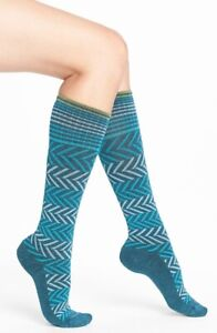 Sockwell Women's Teal Chevron Graduated Compression Socks Size Medium-Large