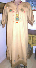CAMPFIRE GIRLS Patches Wood Beads Fringe Non-Native Ceremonial DRESS/Size M or L