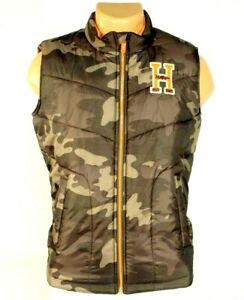 Tommy Hilfiger Zip Front Brown & Green Camouflage Insulated Vest Youth Boy's NWT