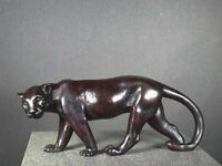 Black Panther Sculpture / Tiger / Lion Cast Bone Resin