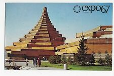 Expo 67 Montreal Canada Man in Community Health Vintage Postcard