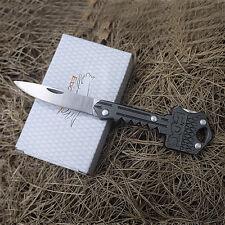 Outdoor EDC multi folding keychain stainless steel self-defense tool Key Knife