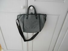 Juicy Couture Top-Handle Grey/Black W/Long Detachable Strap + Inner Zipped Bag