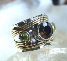Silberring 57 Handarbeit Rauchquarz Peridot Silber Ring Antik Vintage Verspielt