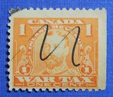 1915 1c CANADA WAR TAX REVENUE VD # FWT7 B # 7 USED                      CS30313