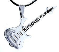 Guitarra Klampfe Acero Inox Metal Rock Band Música Rock&Roll colgante Núm 131