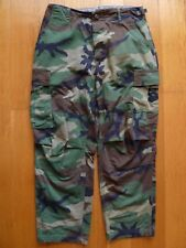 US Army Marines Military Green Camouflage Woodland Button up Cargo Pants