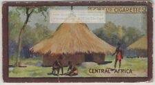 Central African Hut Niam-Niam House Grass 1920s Ad Trade Card