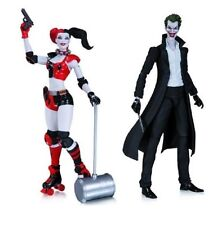 """In STOCK DC Collectibles Villains New 52 """"The Joker + Harley Quinn"""" SET Figure"""