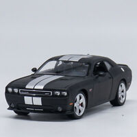 Welly 1:24 2012 Dodge Challenger SRT Diecast Model Sports Racing Car Matte Black