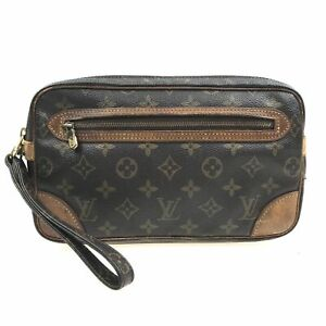 100% Authentic Louis Vuitton Monogram Marly Dragonne GM M51825 [Used] {09-0416}