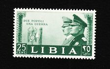 Fascist Italy Colony Libya Hitler Mussolini 1941 2 People 1 War 25c MNH E