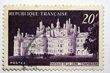 FRANCE TIMBRE OBL N° 924 CHATEAU DE LA LOIRE  CHAMBORD B4