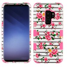 SAMSUNG GALAXY S9 PLUS G965 FRESH PINK FLOWER TUFF 3-PIECE CASE IMPACT COVER