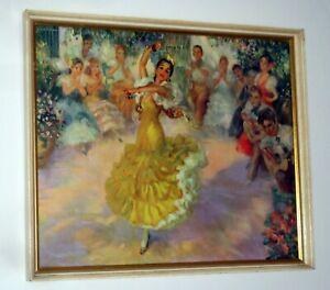 JOHN STREVENS Original 1960's Vintage Print 'Danza Andaluza' Spanish Flamenco