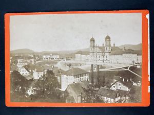 Suisse, Kloster Einsiedeln, Monastère à Einsiedeln Vintage print. Carte cabinet