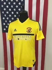 adidas Soccer Pinstripes Bistro Bowling Bocce Jersey Shirt men's MEDIUM kc 1a770