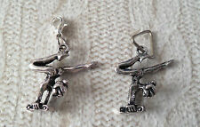 x1 Gymnast Beam Tibetan Silver Necklace Pendant on bail / Bracelet Charm clip on