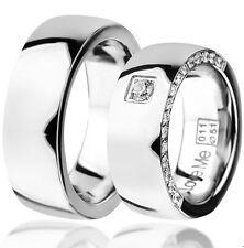 NEU Eheringe Trauringe Verlobungsringe aus Edelstahl mit Lasergravur   011W