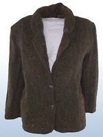 bagarry giacca donna verde pura lana made italy taglia it 46 xl extra large