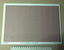 OO/HO gauge (1:76) scale) red roof tile paper - A4 sheet