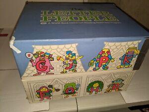 Vintage THE LETTER PEOPLE Homeschool Records VINYL Alphabet Childcraft 1981 #20