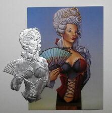 Flachfigur Büste Queen of Hearts Gesamthöhe 90mm Zinnfigur Flat Figure