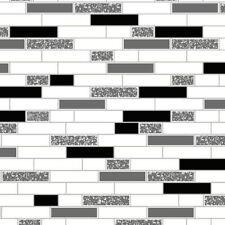 Black Silver 89191 Oblong Granite Sparkly Tile on a Roll Holden Decor Wallpaper