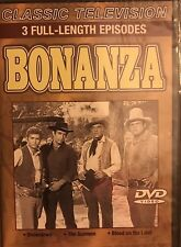 Bonanza: 3 Full-Length Episodes (DVD) Classic Television FACTORY SEALED New