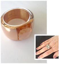 Anello Donna colore rame con pietra swaroski materiale acciaio ms. 17 mm diametr