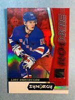 2018-19 Upper Deck Synergy Rookie #86 Lias Andersson Red Rookie NY Rangers