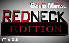 SOLID METAL Redneck Edition BEAUTIFUL EMBLEM Jeep Fender Tailgate Door OFF Road