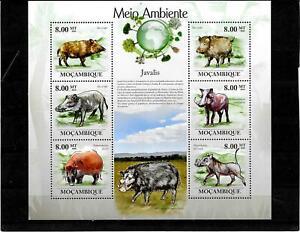 Briefmarken  -Mosambique -Tiere - Block -2010