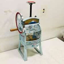 Hatsuyuki Manual Hawaiian Shaved Ice Machine Block Ice Shaver Pro HA-110S used