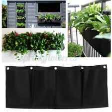 4 Pockets Planting Bags Seedling Wall Planter Non-Woven Hanging Wall Garden